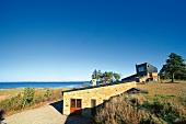 Beachside studio of Jacob Jensen in Limfjord, North Jutland Region, Denmark