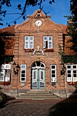 Facade of town hall, Panker, Germany