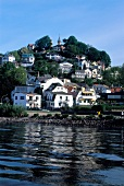 View of Treppenviertel in Blankenese, Hamburg, Germany