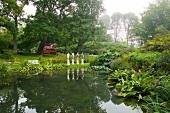 Garden of Castle Sofiero in Helsingborg, Skane, Sweden
