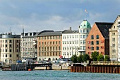 View of waterfront houses in Havnegade, Copenhagen, Denmark
