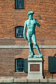 David statue in front of royal museum in Copenhagen, Denmark