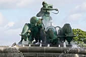 The Gefion Fountain in Copenhagen, Denmark