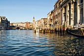 View of buildings and Grand Canal in Venice, Italy