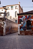 Calle del Morion graffiti on wall, Venice, Italy