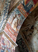 Colourful fresco in Church of Sait Clement, Taull, Boi Valley, Spain