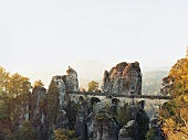 Bastei bridge on Elbe Sandstone Mountains, Saxony, Germany