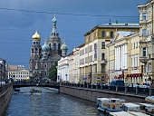 View of Griboyedov Canal and Church of the Redeemer, St. Petersburg, Russia