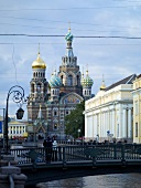 Church of the Redeemer and bridge over Griboyedov Canal, St. Petersburg, Russia