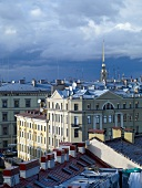 View of building from the roof in St. Petersburg, Russia