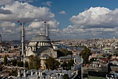 View of Mosque and cityscape of Istanbul, Turkey