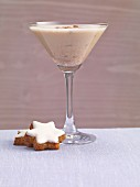 A creamy winter cocktail with cinnamon stars
