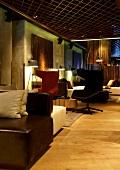 Interior of W Istanbul Hotel in Istanbul, Turkey