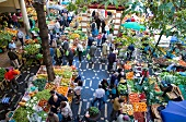 People in Market Hall, Madeira island, Funchal, Portugal
