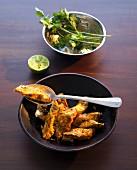 Tandoori fish tikka with coriander (India)
