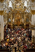 Choir singing in Regensburg Cathedral, Germany