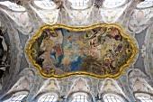 Fresco in ceiling of St Emmeram Castle at Regensburg, Bavaria, Germany