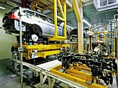 Production of cars in BMW World, Munich, Germany