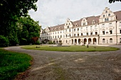 Exterior of Schloss St. Emmeram in Regensburg, Germany