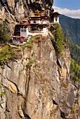 Taktsang monastery on Himalayan mountain slope, Bhutan