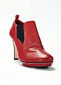 Freisteller, Ankle-Boots rot