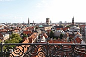 View of old town roofs, Copenhagen, Denmark