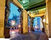 Antique columns of Hermitage museum in Saint Petersburg, Russia