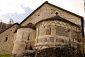 Romanesque architecture of San Carlo church in Ticino, Switzerland