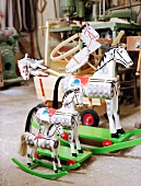 Rocking horses made by Annette Kramer at Odenwald, Germany