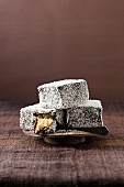 Lamingtons with a chocolate-coconut glaze (Australian cakes)