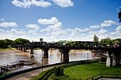 View of Bridge and Khwae Yai river, Thailand