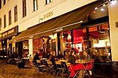 View of people dining at Fru Hagen Restaurant in Oslo, Norway