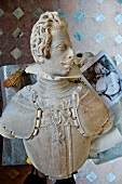 Close-up of bust of Cosimo II de Medici, Italy