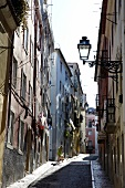 View of an alley in Lisbon, Portugal