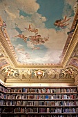 Ceiling painting in the library at Suermondt Ludwig Museum, Aachen, Germany