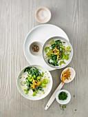 Sellerie-Spinat-Suppe (Aufsicht)