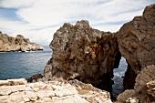 Rock formation on coast, Agios Pavlos, Crete, Greece