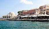 Kreta: Hafenstadt Chaniá, Promenade, frühere Janitscharen-Moschee