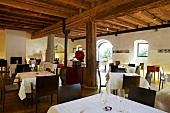 Interior of The Kallmunz Restaurant in Merano, South Tyrol, Italy