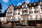 Facade of Joy City Hotel Palm forest in Black Forest, Germany