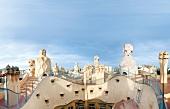 Casa Mila roof architecture in Barcelona, Spain