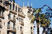Facade of Hotel Casa Fuster in Gracia, Barcelona, Spain