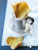 Heart-shaped anise crisps