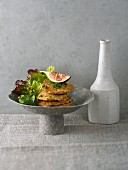 Amaranth fritters on a bed of salad