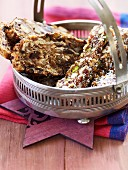 Fruit bread and panforte with coconut and nuts