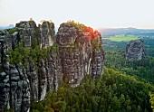 Sachsen: Sächsische Schweiz, Land- schaft, Felsen, malerisch