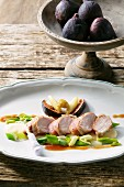 Pheasant breast with quince jus and figs