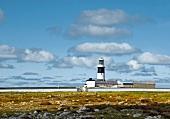 Irland: Tory Island, verlassener Leuchtturm, Wolken