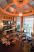 Lobby of Kempinski Hotel Barbaros Bay in Turkey