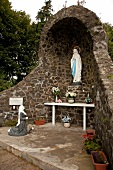Statue of Mother Mary in chapel at County Armagh, Ireland
